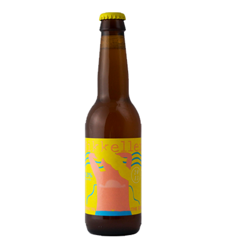 Øl med gul etikette