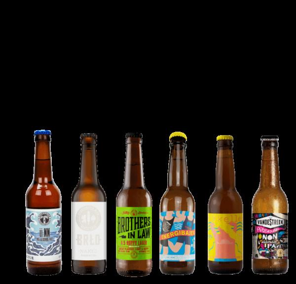 flasker med øl
